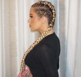 celebrity_boxer_braids_hairstyles_Khloe_Kardashian