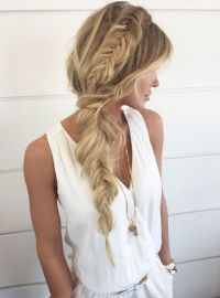 Messy-Fishtail-Braid-Hairstyle