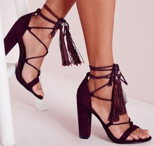 Purple-Lace-Up-Tassel-Block-Heeled-Sandals-Berry