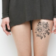 roses-on-leg-simple-tattoos-egodesigns - Αντιγραφή