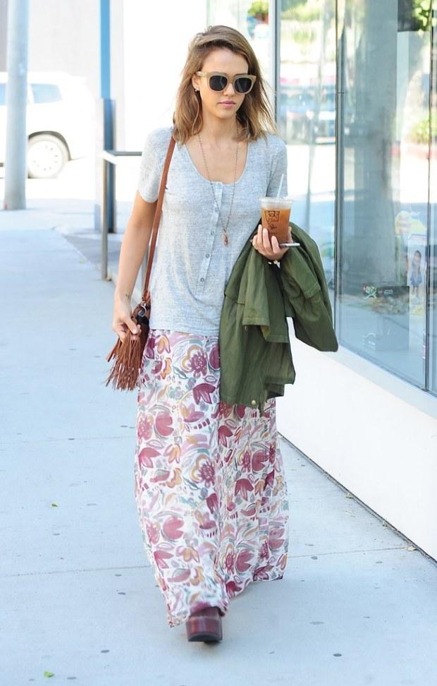 jessica-alba-floral-maxi-skirt